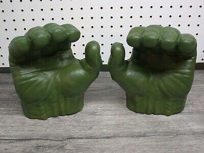 The Hulk Gloves (Marvel Hasbro 2015 Avengers Incredible Hulk Open Grip Green Foam Hands)