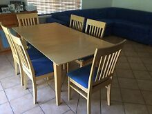 Extendable dining table and 6 chairs Belfield Canterbury Area Preview