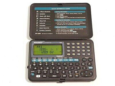 Vintage Electronic Rolodex File 96k Personal Organizer Rf-2296 Wnew Batteries
