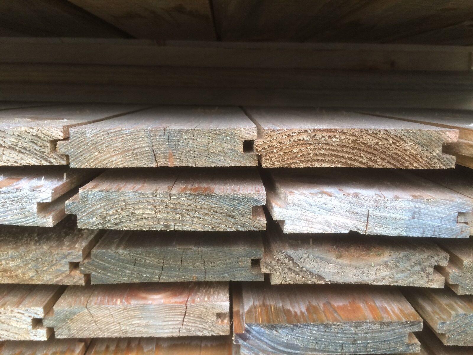 42 m² imprägnierte rauhspund bretter profilholz profilbretter