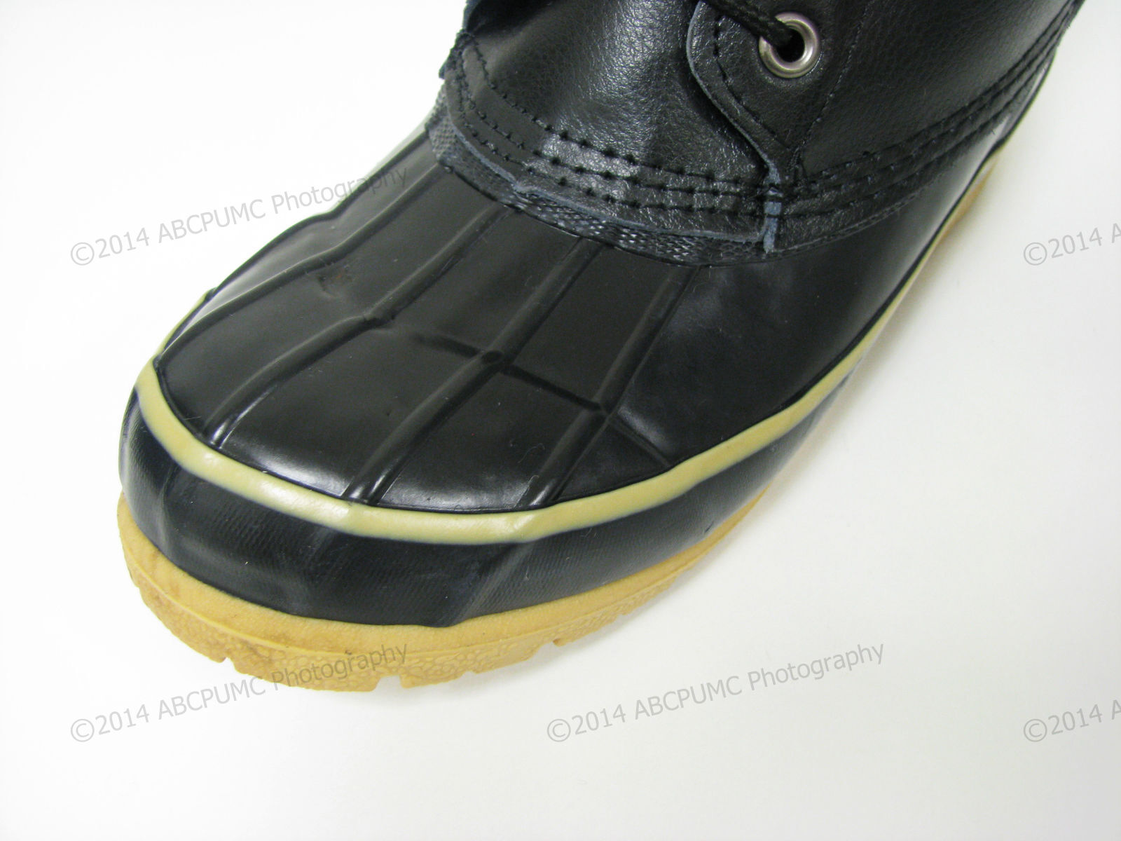 693a65188 Men's Duck Boots Leather Black Thermolite Waterproof Hiking Winter, Sizes:  6-13