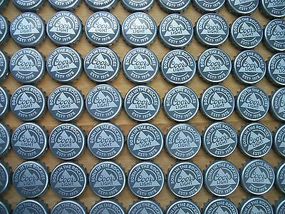 100 COORS LIGHT BORN IN THE ROCKIES BEER  BOTTLE CAPS (NEW STYLE)