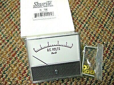 Lof Of 4 Shurite 7104z Analog Volt Panel Meter Dc Current 0a - 5a Vdc Nib