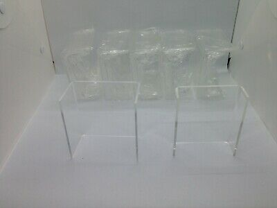 Clear Acrylic Riser Set Display Jewelry Showcase Set Of 6 Rs013f-6m6s