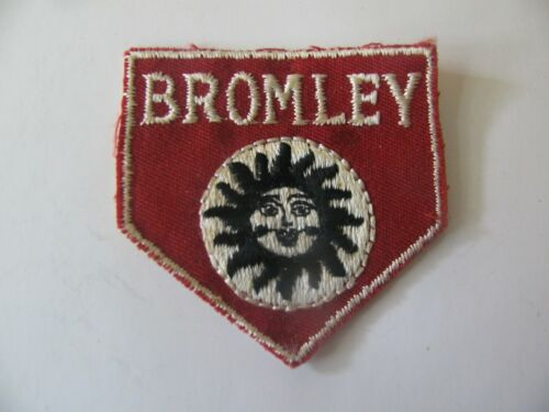 VINTAGE  SKI PATCH  BROMLEY  VERMONT VT RESORT EMBROIDERED  FREE SHIPPING