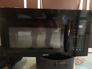 Samsung above stove microwave oven