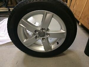 Audi rims with Michelin tires