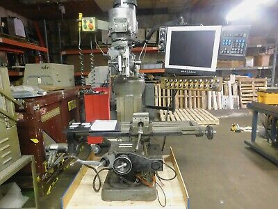 Bridgeport Ez Trak Dx Vertical Milling Machine W2 Axis Eztrak Cnc Control