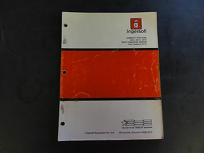 Ingersoll Compact Tractors 301230143016 With Vanguard Engines Parts Catalog