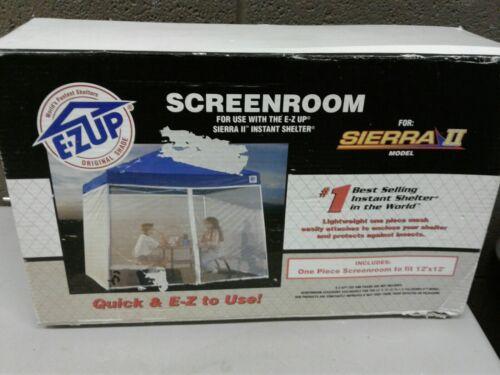 Vintage NOS Ez Up 12x12 Screenroom For Sierra II Instant She