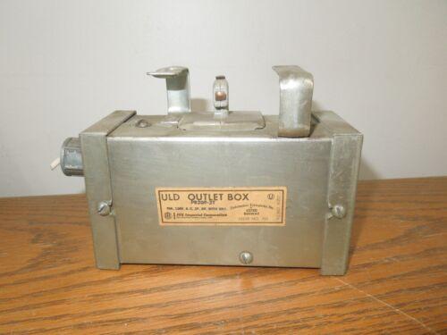 Ite Pb20p-3t Uld Outlet Box 20a 120v 2p 3w W/ Ground Pushmatic Breaker Disc Used
