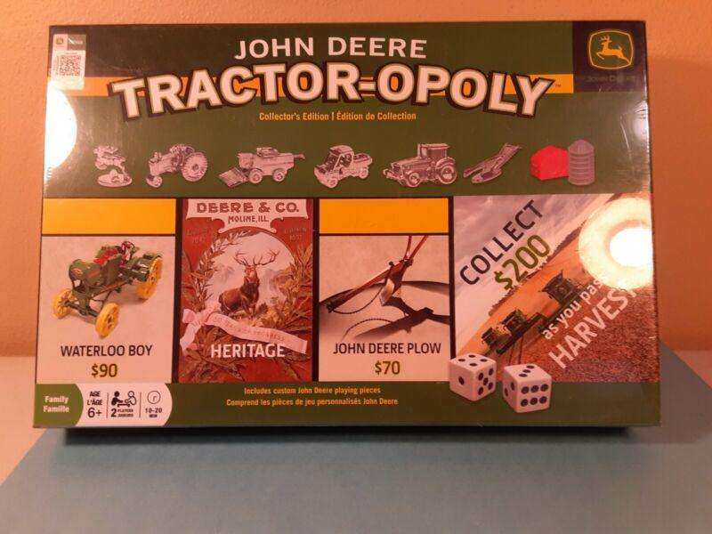 NIB - John Deere Tractor-opoly Monopoly Collectors Edition Farming Board Game