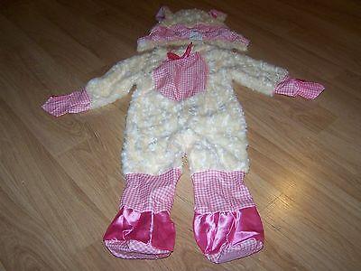 Infant Girls Size 6-12 Months Lamb Sheep Halloween / Easter Costume Pink - Girls Sheep Costume