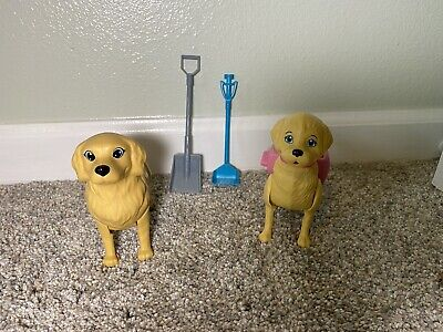 Barbie Potty Pup Dogs Puppies With Shovels (Set Of 2) - Dogs And Shovels Only
