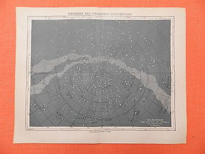 FIXSTERNE Astrologie Astronomie LITHOGRAPHIE v 1897  Sterne Sternhimmel Himmel