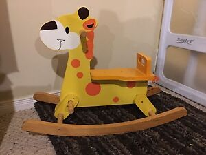 Super Cute Wooden Giraffe Rocker