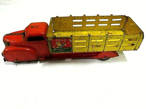 Vintage 1940s Louis Marx Coca-Cola Metal Delivery Truck