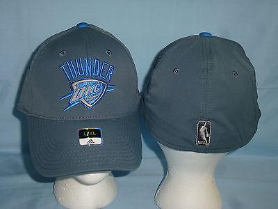 20647919f96 OKLAHOMA CITY THUNDER Adidas Gray Swat style CAP HAT size Small Medium NWT   27