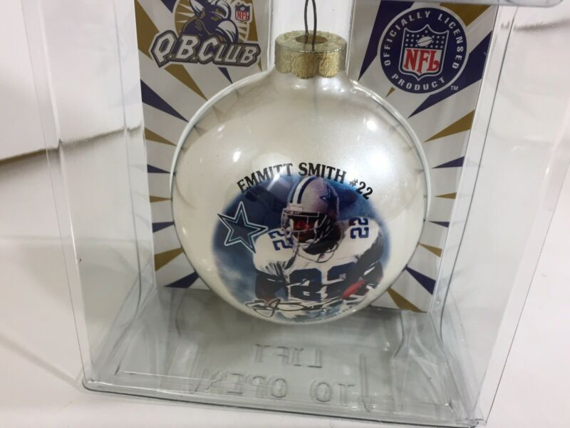 Dallas Cowboys Emmitt Smith #22 QB Club Christmas Ornament 1997