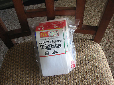 McKIDS GIRLS TIGHTS SIZE 4-6 WHITE NEW IN PACKAGE! (Girls In White Tights)