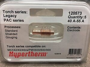 Hypertherm 120573 Electrodes Genuine Powermax 600 800 900 MAX 42 43 40cs Plasma