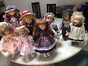 PORCELAIN DOLLS x8  $150 lot or sold separately Ivanhoe Banyule Area Preview