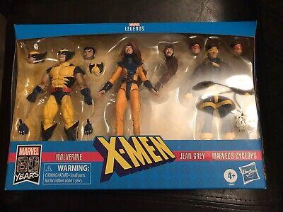 Marvel Legends X-Men Jean Grey Cyclops Wolverine Action Figures 3-Pack NEW