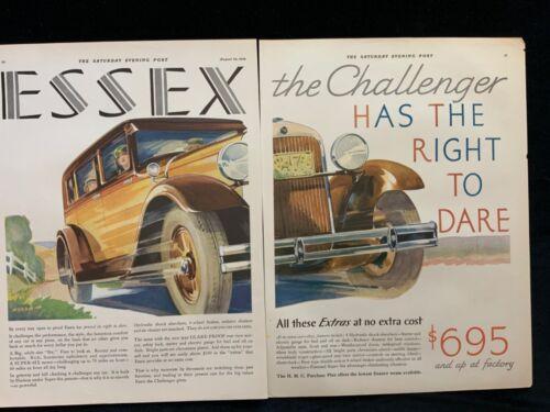 E Essex 1929 Ad  2 pg cut  14 x 10 3/4