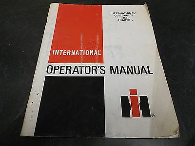 Ih International Harvester Cub Cadet 482 Garden Tractor Owner Operator Manual