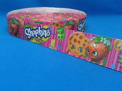 1 metre length of Shopkins design Cake/Hair/craft ribbon @ MrsMario's