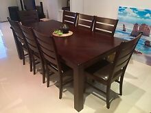 Excellent 8 seater dining table! - chairs all included Bowen Hills Brisbane North East Preview