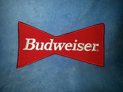 Vintage Budweiser Bow Tie Embroidered Patch - Large 8x4 back patch