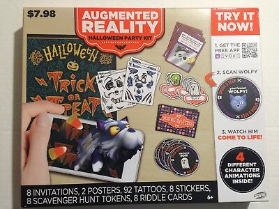 Savvi Halloween Party Kit Kids 8 Invitations Stickers Token Tattoo Riddle Cards ](Halloween Kids Invitations)