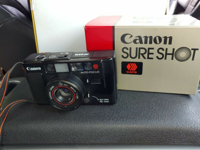 Canon AF35M 35mm Point & Shoot Film Camera -Sure Sho - Excellent Condition w/Box