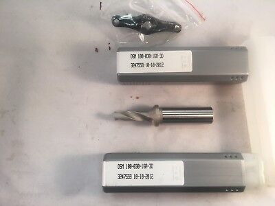 Iscar Dsm 100-030- 16a-3d Drill Body Coolant Through Iscar