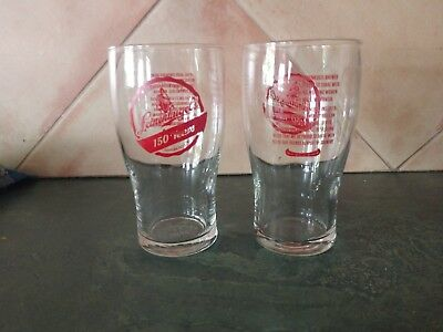 NEW 150 YEARS LEINENKUGEL BEER PINT GLASS SET (2) Beer Pint Glass Set