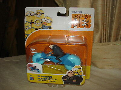 DESPICABLE ME 3 FLAMINGO WATER CYCLE W/FELONIOUS GRU :AGES 4+ NEW IN PKG (Despicable Me Felonious Gru)