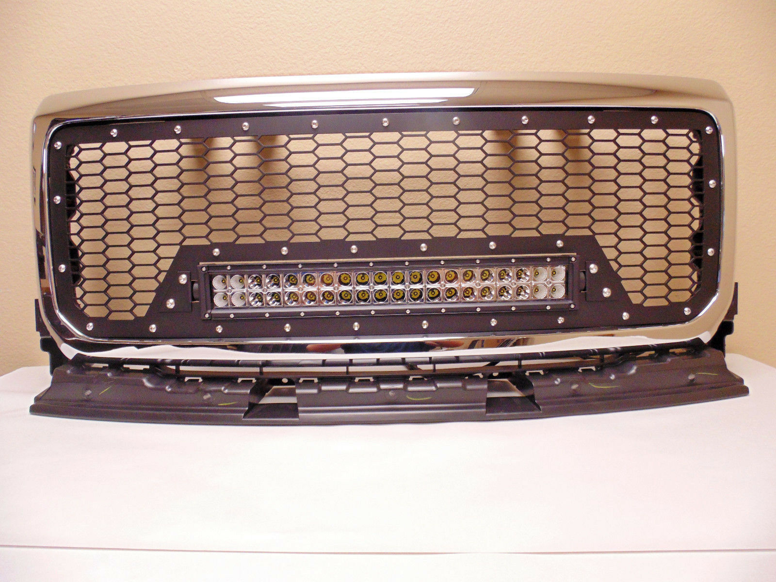 15 19 Gmc Canyon Denali Black Mesh Aluminum Grille Surround 57 Chevy Wiring Harness Ebay Click To Enlarge The Images Below