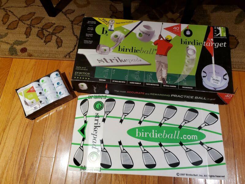 Birdie Ball Strike Pad & 12 pack of Birdie Balls Golf Practice Training Aid