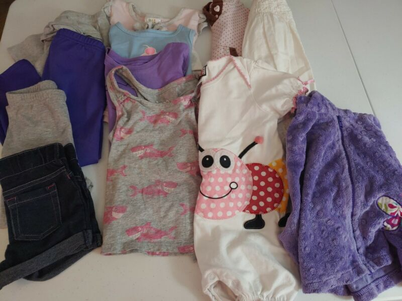 Girls Size 2t 24 Months Lot Of 12 Pc Shirts Pants Short Dress  Jacket Old Navy