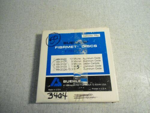 Buehler Fibrmet Discs 69-3102 Polishing 3 Micron Lot of 50