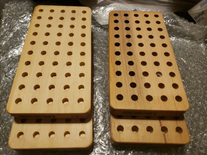 Huntingtons RELOADING Wood TRAY  #0 and #1 Two Trays of each hold 50 each