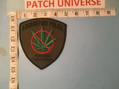 LOGANSPORT LA  POLICE  MARIJUANA ERADICATION SHOULDER PATCH        1075