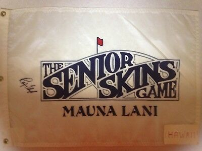 Senior Skins Game pin flag signed by Raymond Floyd Maui, Hawaii at Kaanapali pga, used for sale  Shipping to Canada