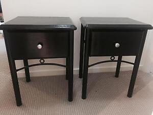 Two Immaculately Restored Bedside Tables Surfers Paradise Gold Coast City Preview