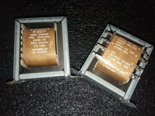 (1PCS) STANCOR P-6377 POWER TRANSFORMER 48V PRI 115/230V SEC 12V/2A 50/60HZ ROHS