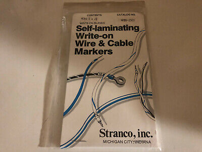 Stranco WMBS-2500 Self-Laminating Write on Wire & Cable Markers 1x2-1/2 60 Label (Laminate Writing)