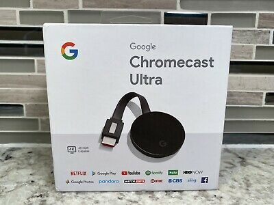 Google Chromecast Ultra 4K Digital Media Streamer - Black (GA3A00403A14)