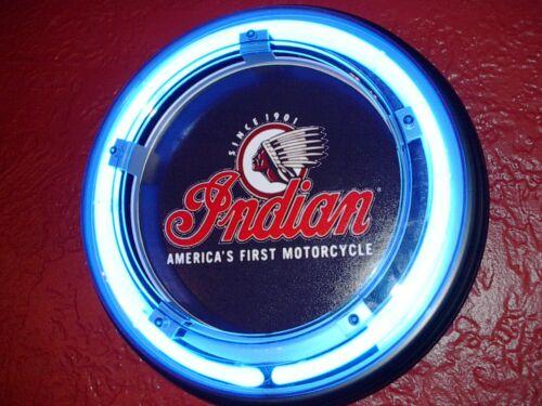 Indian Motorcycle Garage Man Cave Advertising Neon Sign