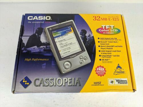 Casio Cassiopeia E-125 Pocket PC New Open Box